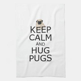Keep Calm Hug Pugs Towel