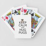 Keep Calm Hug Pugs Poker Cards
