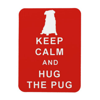 KEEP CALM HUG THE PUG MAGNET BIRTHDAY