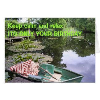 Keep calm, humerous card
