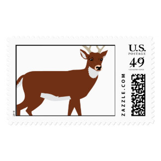 Keep Calm Hunt Deer Venison Antlers Animal Hunting Postage