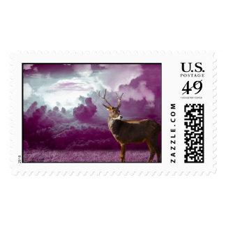 Keep Calm Hunt Deer Venison Antlers Animal Hunting Postage Stamp