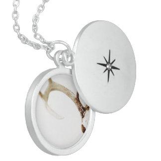 Keep Calm Hunt Deer Venison Antlers Animal Hunting Sterling Silver Necklace
