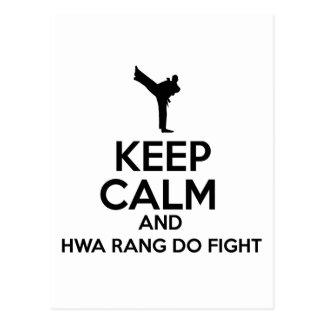 Keep calm hwa rang do designs postcard