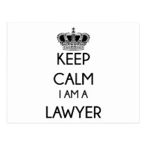 Keep Calm, I am a Lawyer Postcard