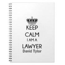 Keep Calm, I am a Lawyer Spiral Notebook