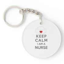 Keep Calm I am a Nurse Keychain