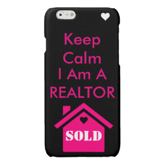 Keep calm I am a Realtor Glossy iPhone 6 Case