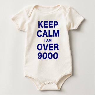 Keep Calm I am Over 9000 Baby Bodysuit