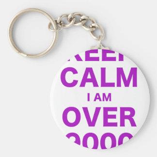 Keep Calm I am Over 9000 Keychain