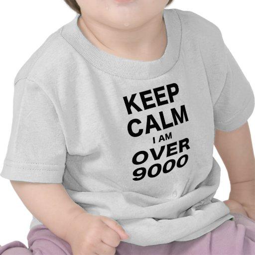 Keep Calm I am Over 9000 Tshirts