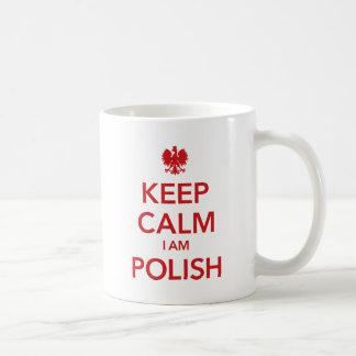 KEEP CALM I AM POLISH COFFEE MUG