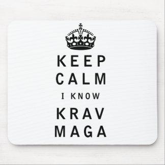 Keep Calm I Know Krav Maga Mouse Pad