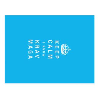 Keep Calm I Know Krav Maga Postcard