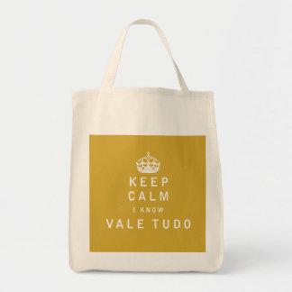 Keep Calm I Know Vale Tudo Bags