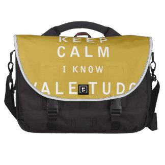 Keep Calm I Know Vale Tudo Bag For Laptop
