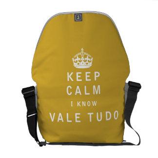 Keep Calm I Know Vale Tudo Courier Bag