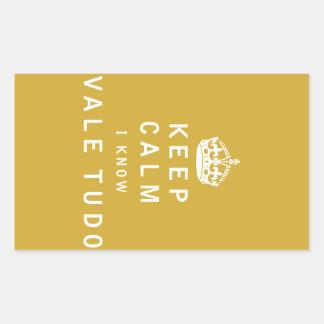 Keep Calm I Know Vale Tudo Rectangular Sticker
