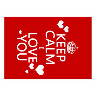 Keep Calm I Love You - all colors Business Card