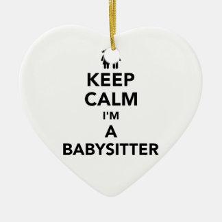 Keep calm I'm a babysitter Ceramic Ornament