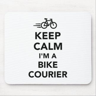 Keep calm I'm a bike courier Mouse Pad