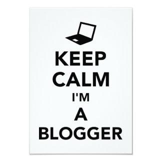 Keep calm I'm a blogger Card