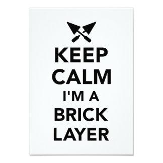 Keep calm I'm a brick layer Card