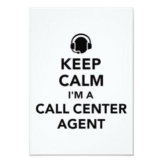Keep calm I'm a call center agent Card