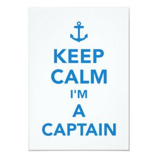 Keep calm I'm a captain Card