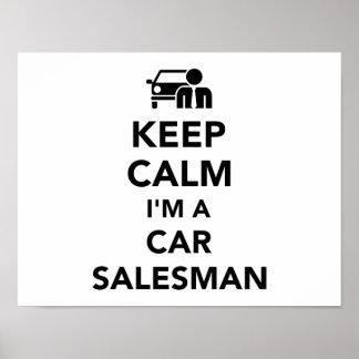 Keep calm I'm a car salesman Poster