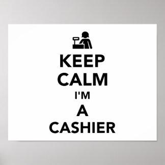 Keep calm I'm a cashier Poster