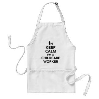 Keep calm I'm a childcare worker Adult Apron