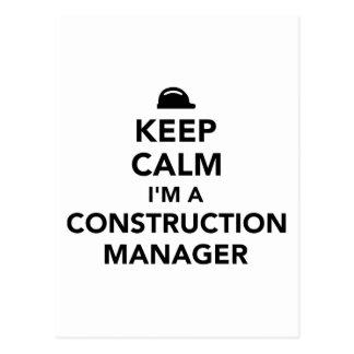 Keep calm I'm a construction manager Postcard