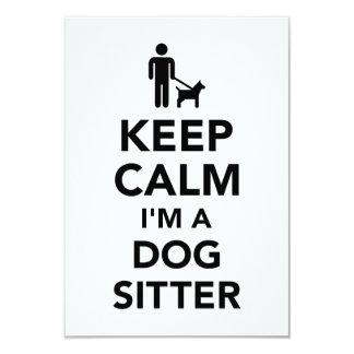 Keep calm I'm a dog sitter Card