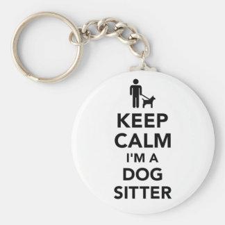 Keep calm I'm a dog sitter Keychain