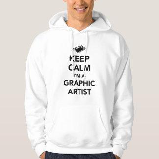 Keep calm I'm a graphic artist Hoodie