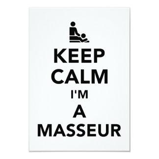 Keep calm I'm a masseur Card