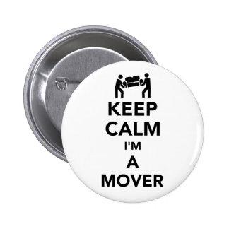 Keep calm I'm a mover Button
