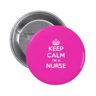 KEEP CALM I M A NURSE PINK NURSING GIFT BADGE