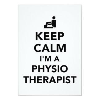 Keep calm I'm a physiotherapist Card