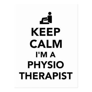 Keep calm I'm a physiotherapist Postcard