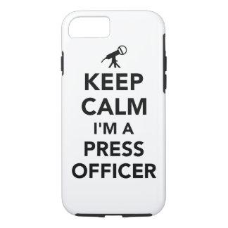 Keep calm I'm a press officer iPhone 8/7 Case