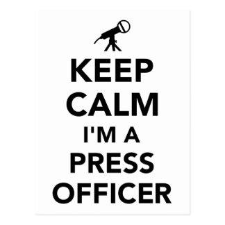 Keep calm I'm a press officer Postcard