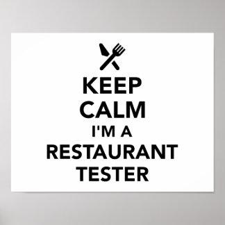 Keep calm I'm a Restaurant tester Poster