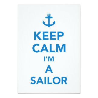 Keep calm I'm a sailor Card