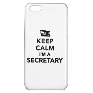 Keep calm I'm a secretary Cover For iPhone 5C