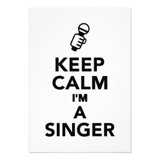 Keep calm I m a Singer Personalized Announcements
