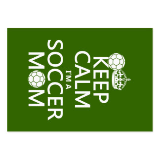 Keep Calm I m a Soccer Mom in any color Business Card Template