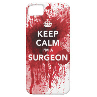 Keep Calm I m a Surgeon Bloody iPhone 5 Case