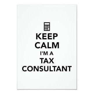 Keep calm I'm a tax consultant Card
